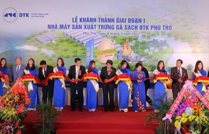 Inauguration ceremony of DTK Clean Chicken Egg Production Factory in Phu Tho
